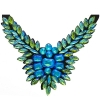 Crystal Motifs Necklace Wings Green Aurora Borealis